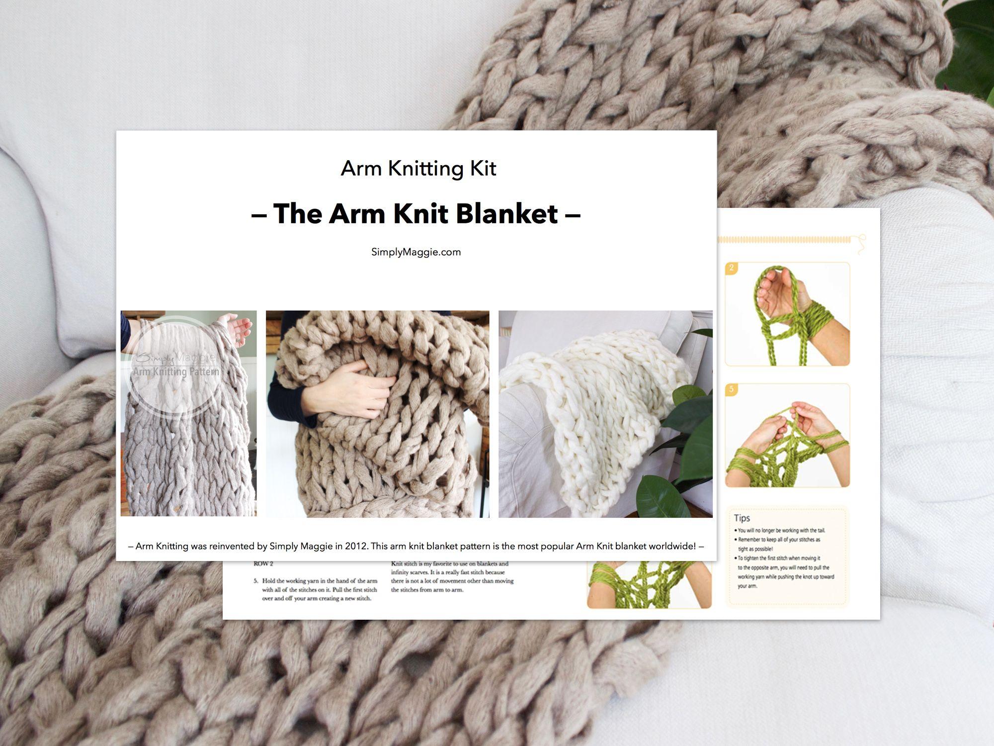 Arm Knitting Kit – The Arm Knit Blanket   Knitted Stuff   Pinterest ...