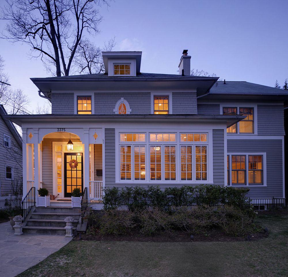 Image Result For Four Square Dormer Addition Craftsman Home Exterior Four Square Homes Home Additions