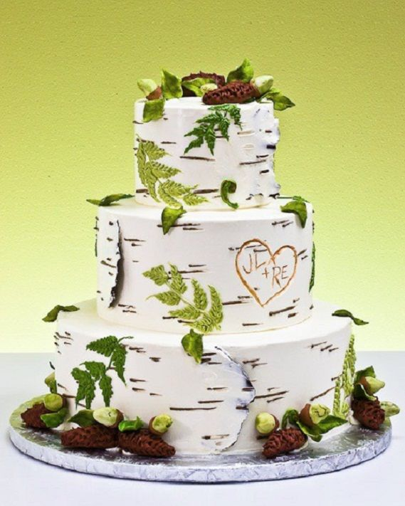 2. Birch Wood Rustic Wedding Cake… Photo CreditBirch wood is a big ...