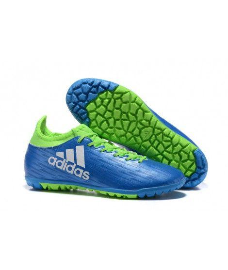 best sneakers b8da2 70b2a Adidas X 16.3 TF Suola Per Erba Sintetica Uomo Scarpe Da Calcio Blu Verde