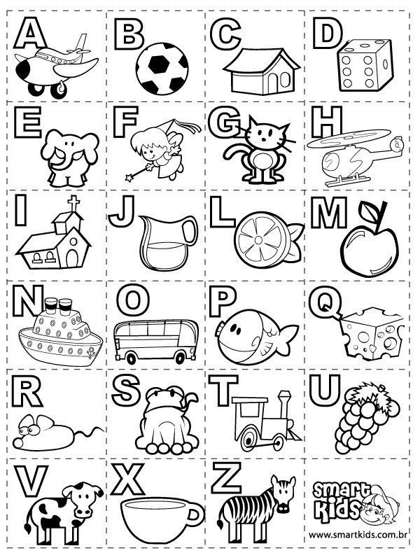 Abecedarios Para Colorear Preschool Activities Spanish Alphabet