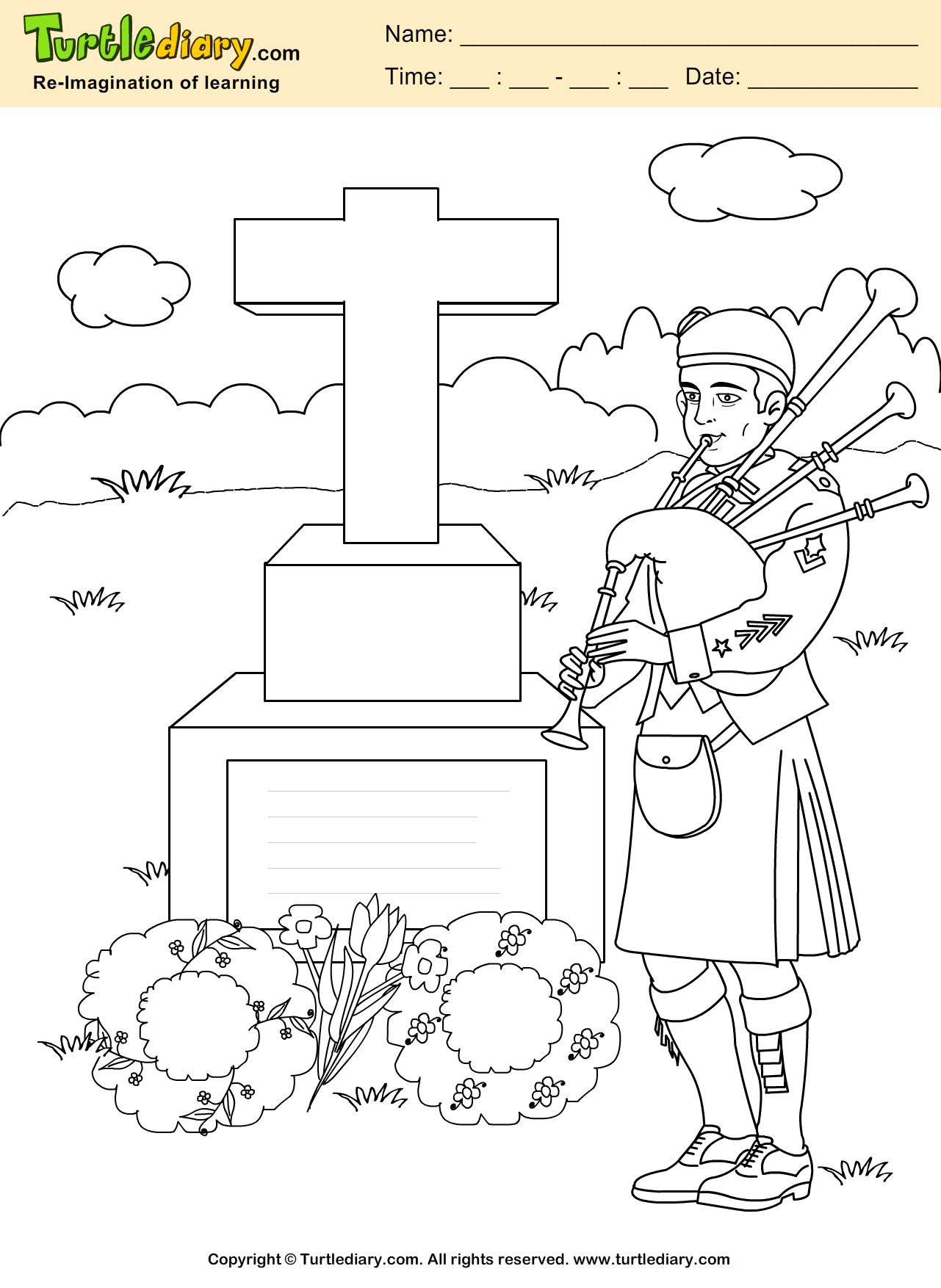 Memorial Coloring Page Memorialday Coloring Kids