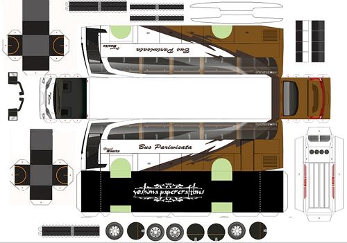 kumpulan paperbus sale part 2 Stiker mobil, Mobil