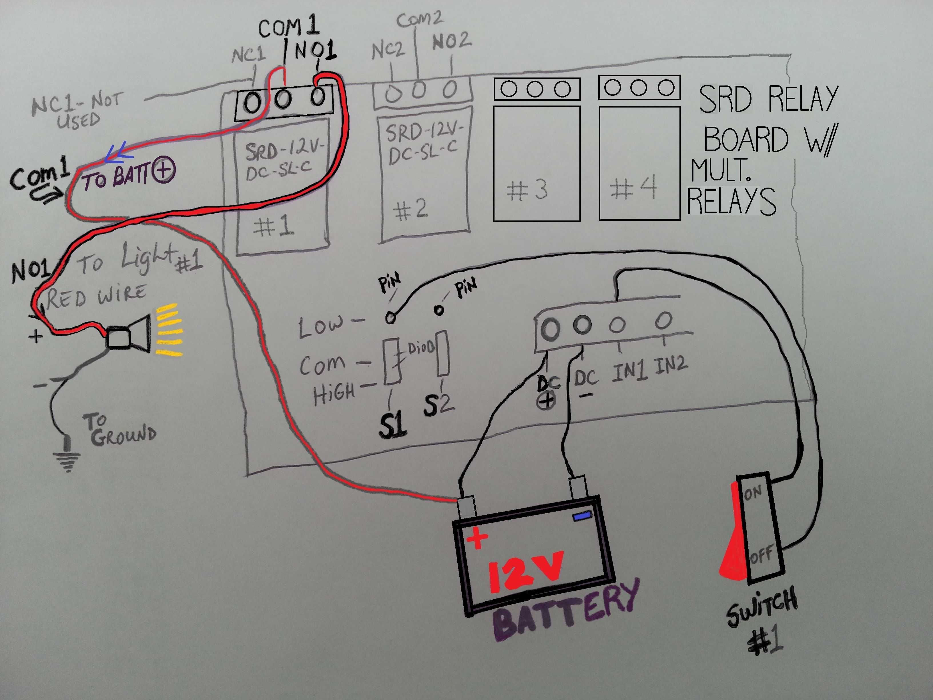 Relay Board Wiring Diagrams Electrical Diagram Schematics Megasquirt For Srd Multiple Relays On One 5 Blade
