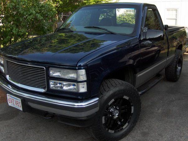1997 Chevy Silverado With Custom Grill And Aftermarket Wheels 1997 Chevy Silverado Chevy Silverado Chevy