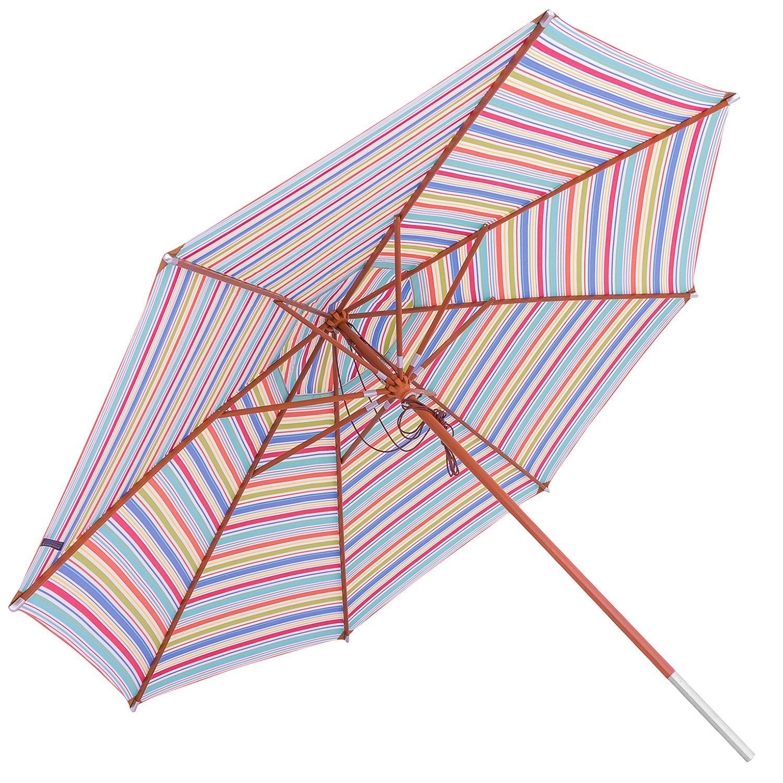 anndora anndora Sonnenschirm Gartenschirm mit Winddach Größenwahl gestreift 7 Farben