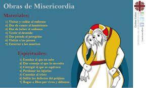 Resultado de imagen de año de la misericordia obras de misericordia