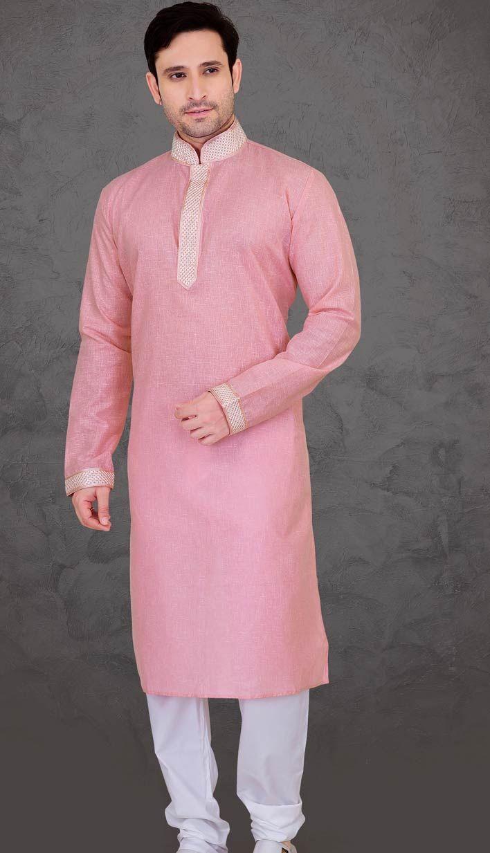 Indian Latest Pink Dianne Poly Cotton Kurta | Cosas para ponerme ...