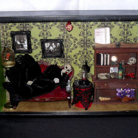 Gothic Shadow Box Diorama The Spiritualist S Parlor By