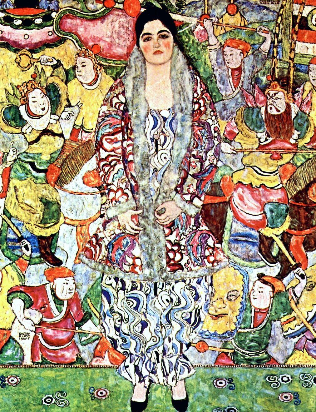 Gustav Klimt: Ritratto di Friederike Maria Beer (1916) olio su tela 168x130. Stile: Art Nouveau. Periodo: Opere mature