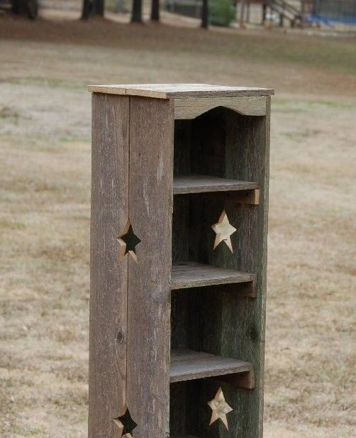 Tall Bookcase Skinny Bookcase Choose Color and Cutouts Cedar Wood
