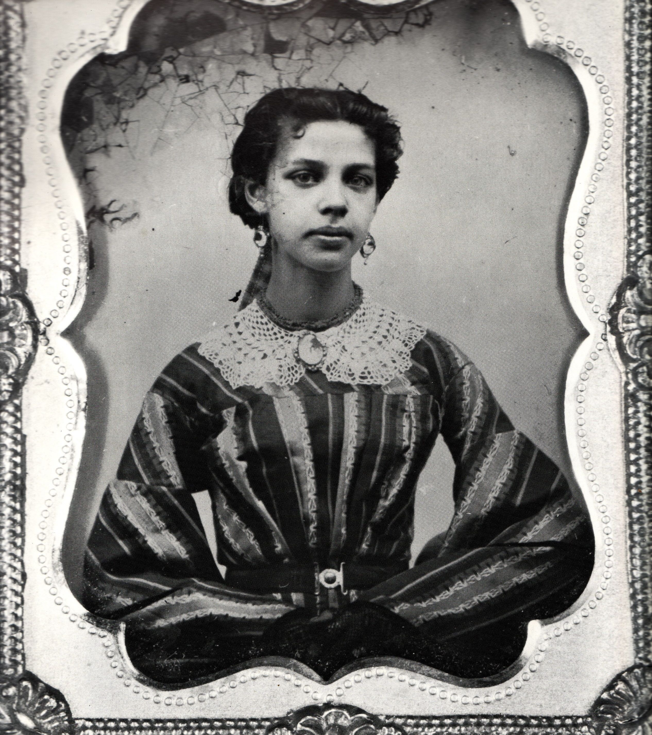 Duchenne De Boulogne Pronunciation C 1850s Young Woman Possibly Of Mixed Race Heritage 1840