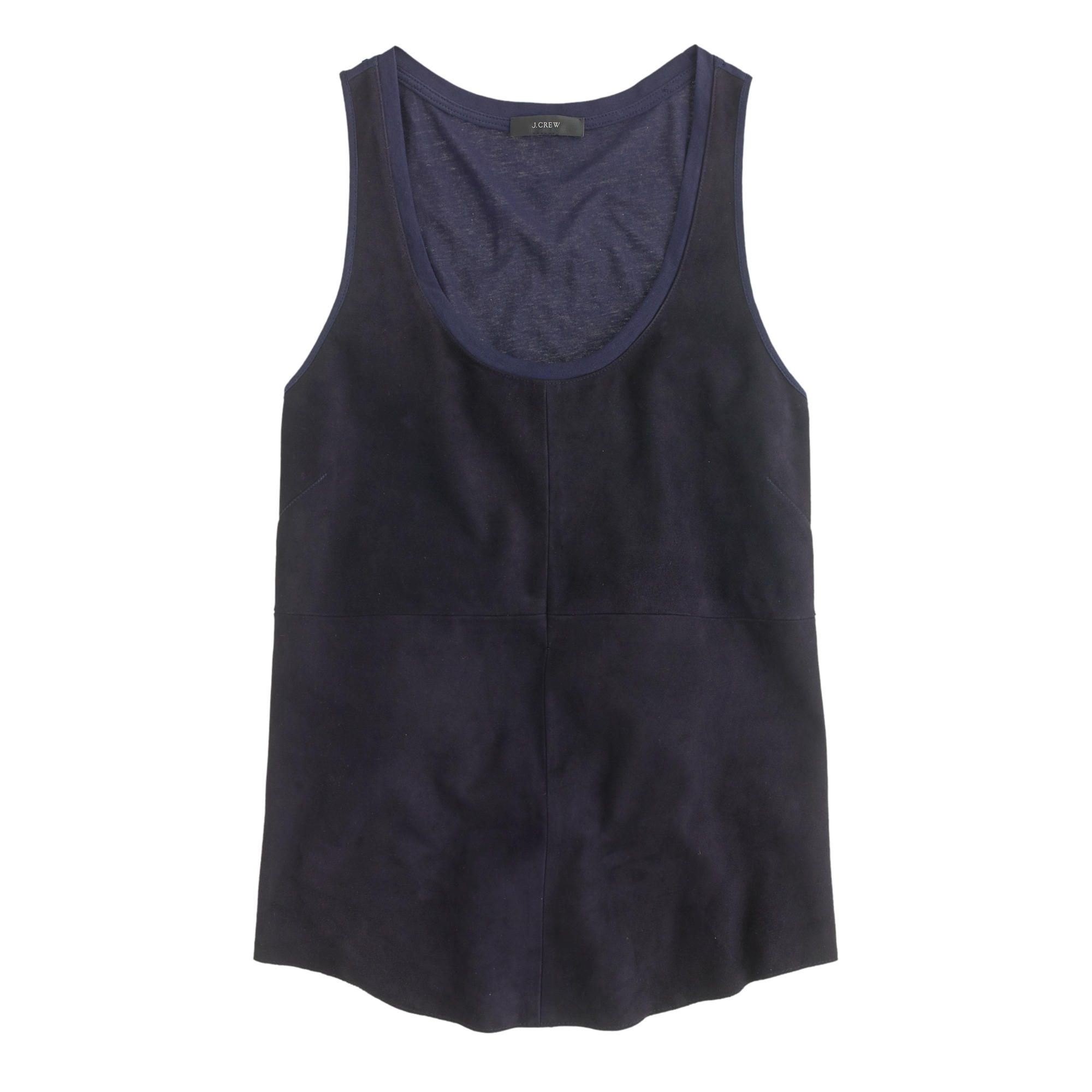 Collection suede-front tank : tops | J.Crew | Sewing Inspiration ...