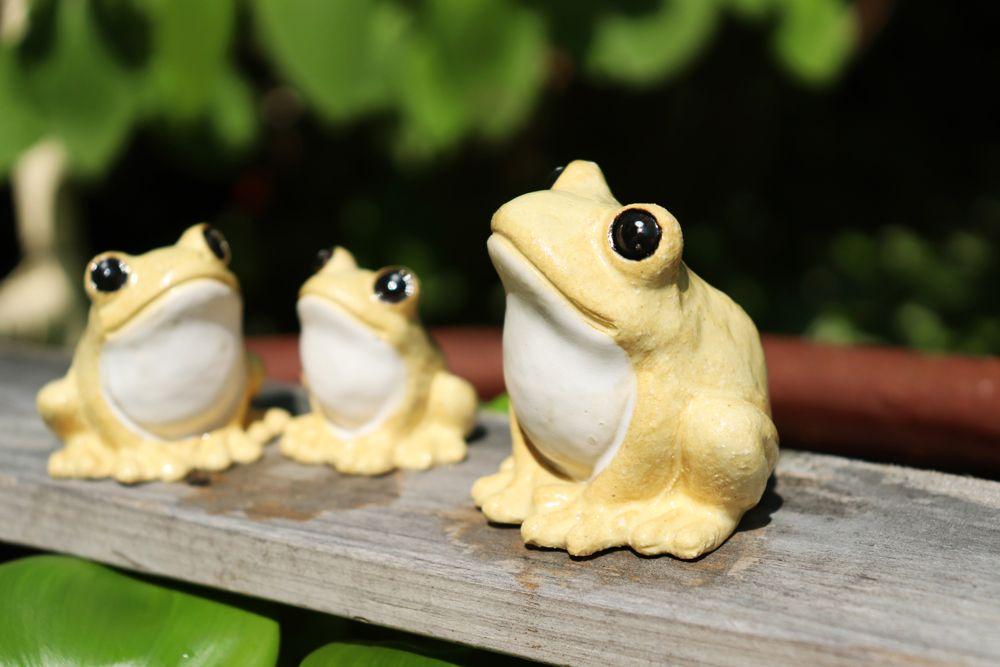 福々カエル3匹セット 黄色 クラフト悠季 かわいいカエル カエル かえる かわいい