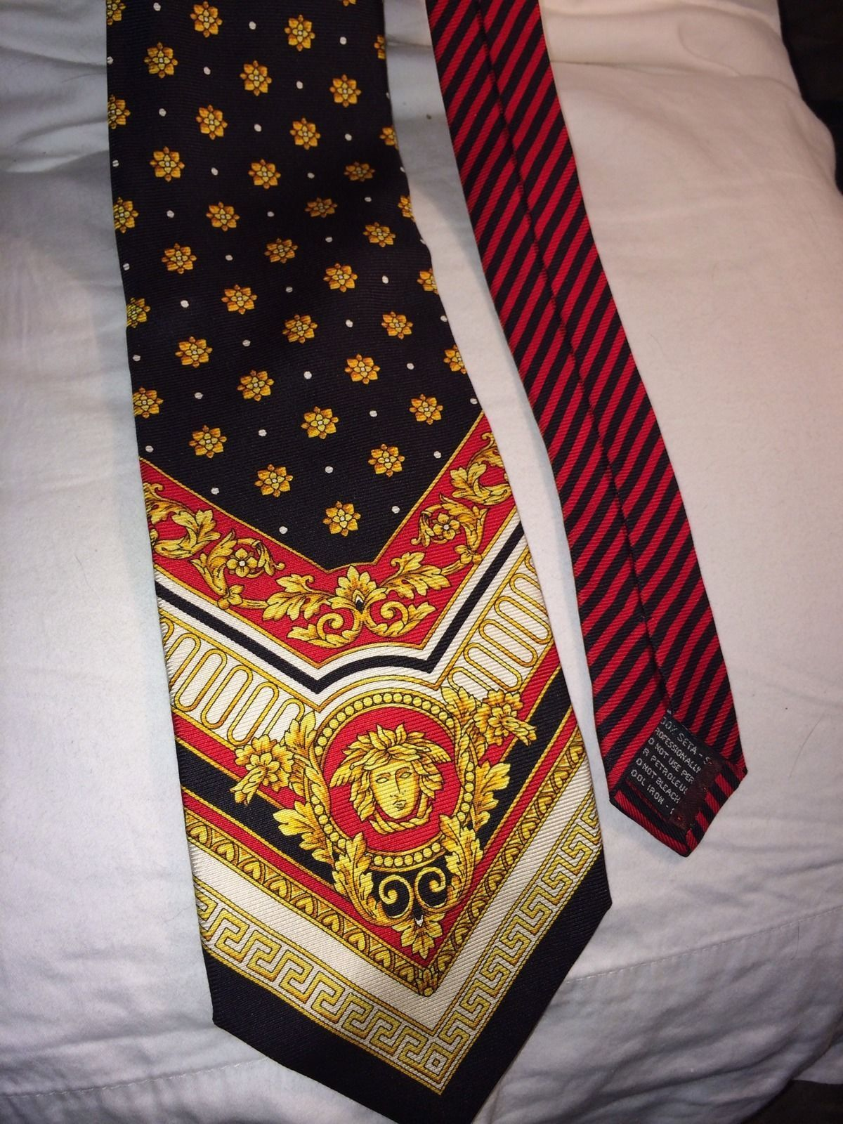 Gianni Versace Italy Vintage Iconic 100 Silk Tie Ebay