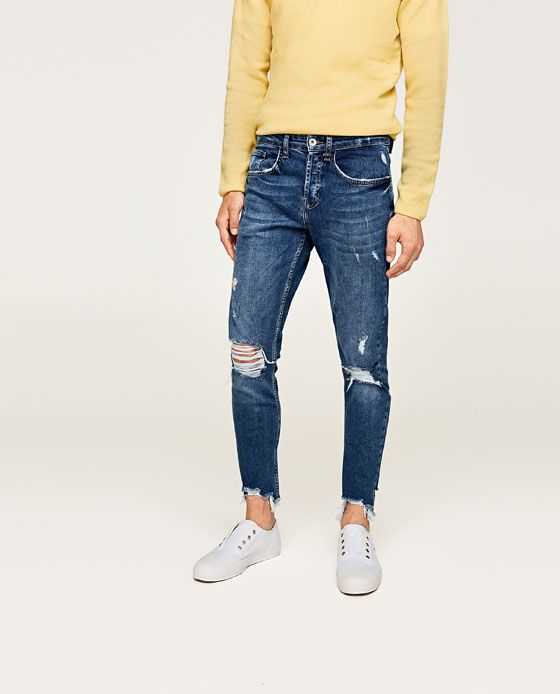 b231e6cc Image 2 of RIPPED AND EMBROIDERED SKINNY JEANS from Zara | Pants in ...