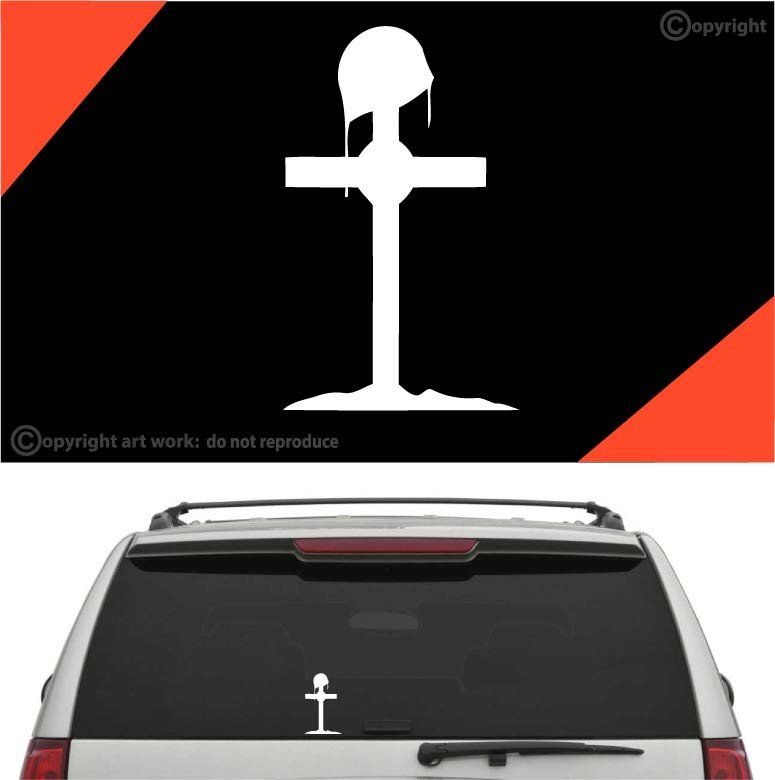 Fallen Soldier Cross Car Sticker Decal Car Stickers