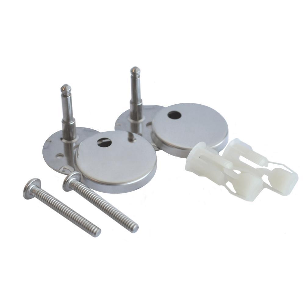 Icera Toilet Seat Bolt Assembly Kit With Polished Chrome Hinge