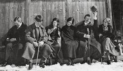 Eliel Saarinen, Loja Saarinen, Olga Gummerus-Ehrström med flera, Foto: Cranbrook Archives.