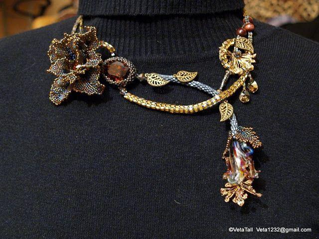 Veta's Art with Beads: Blossoming of Glass / Цветение стекла