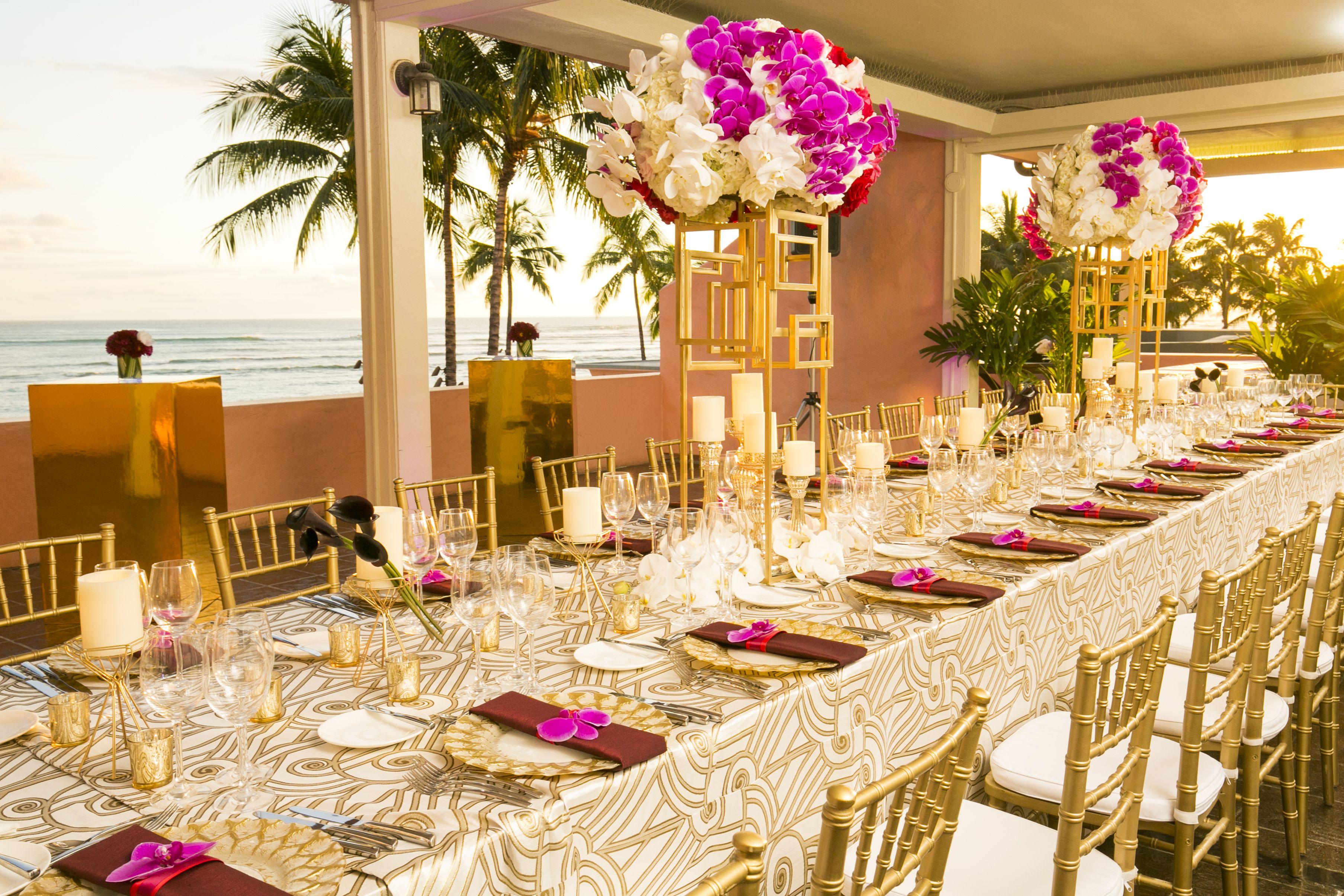 Oceanfront Panoramic View Of Waikiki Beach Weddings In