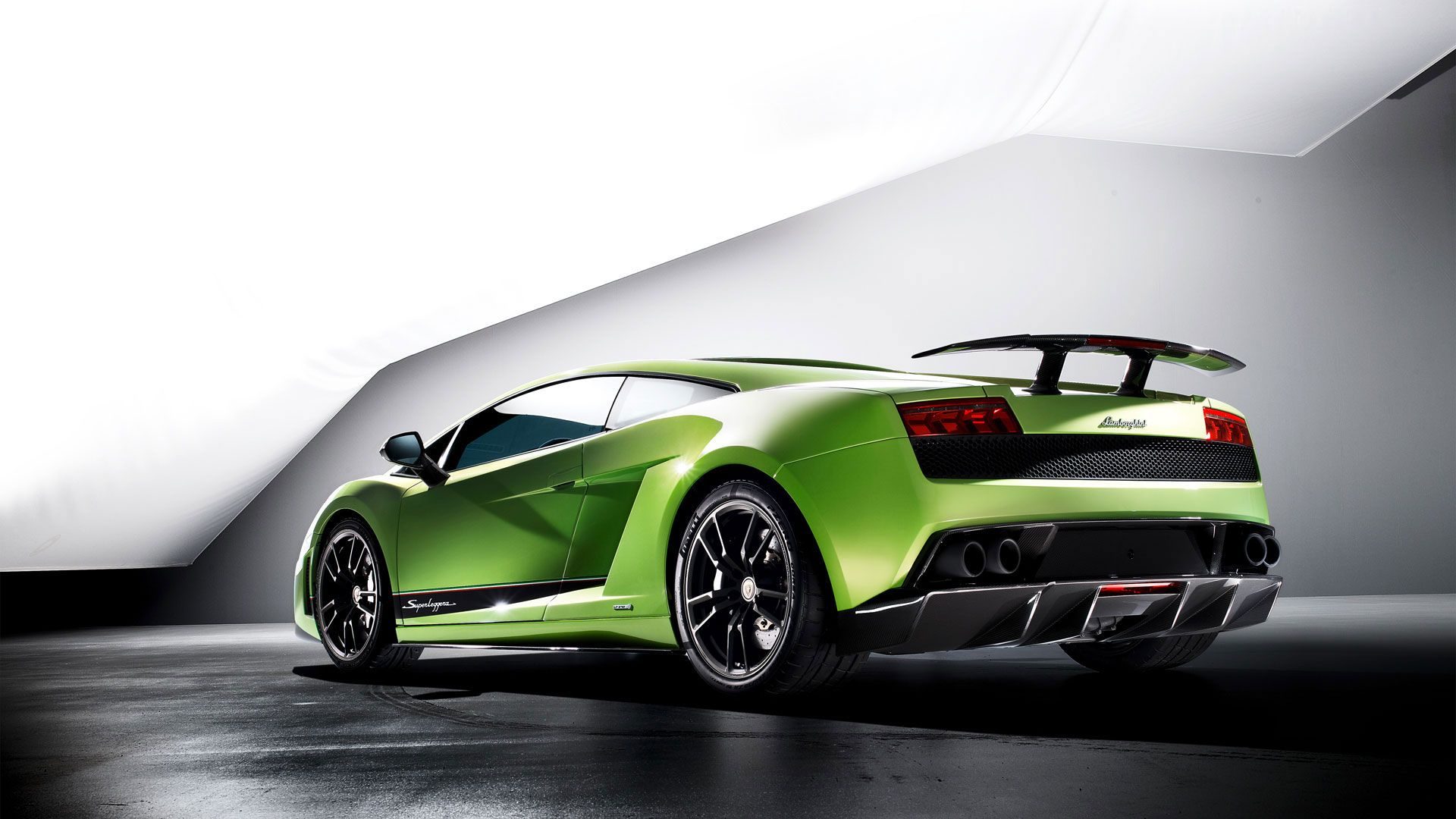 Wallpaper Area Green Lamborghini Gallardo HD