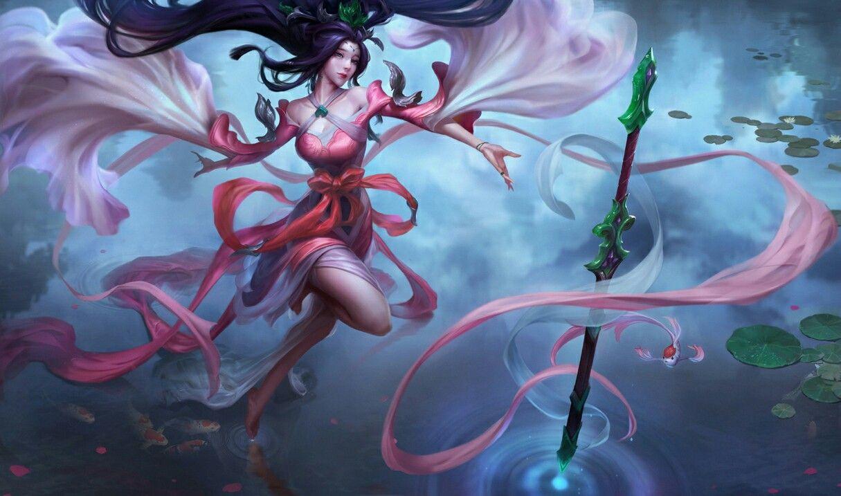 Sacred Sword Janna League Of Legends Gameplay Pinterest