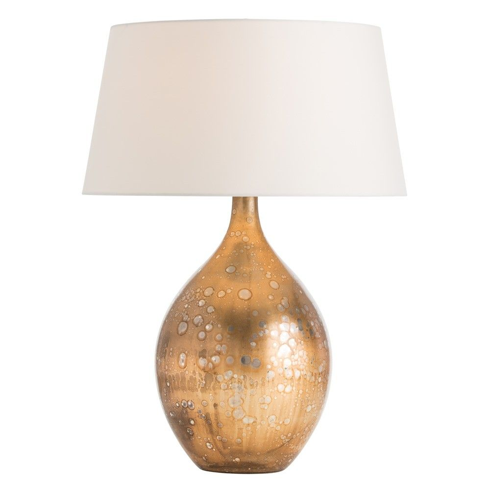 """Limited Production Design & Stock: 25"""" Modern Teardrop Vase Form Accent Lamp * Gold Copper & Silver Finish, Light Pewter Shade"""