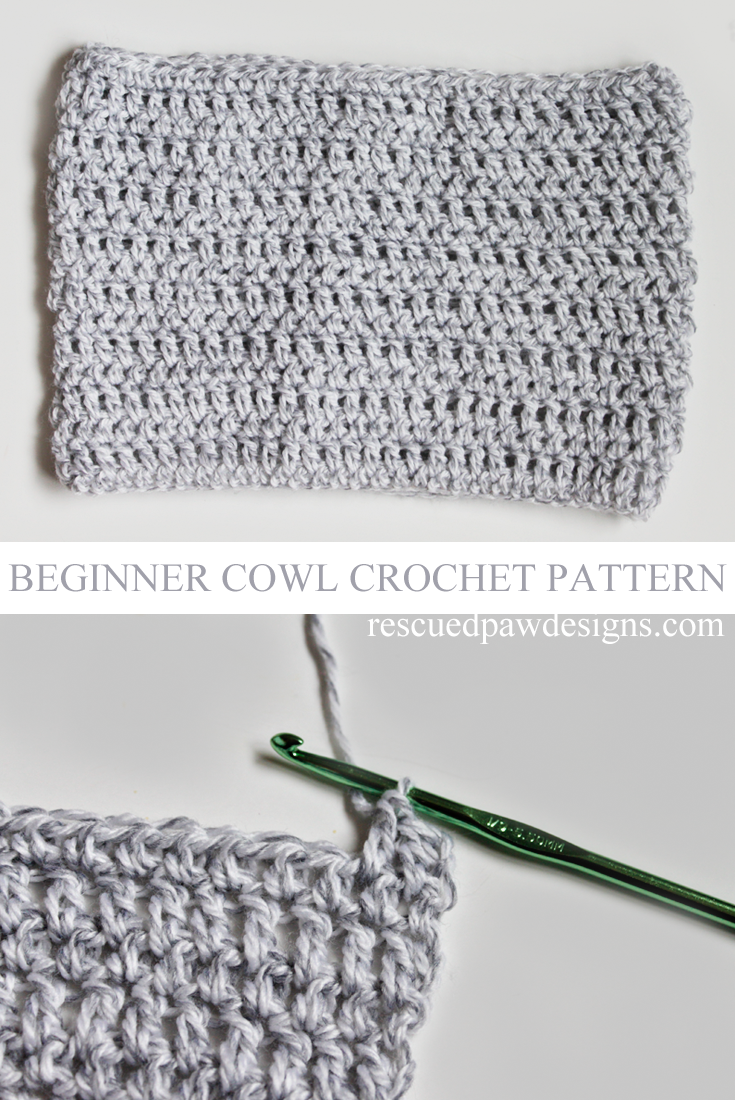 Lightweight Grey Cowl - Free Crochet Pattern