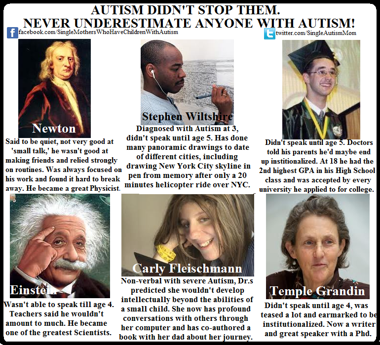 So you think people on the autism spectrum aren't smart ...