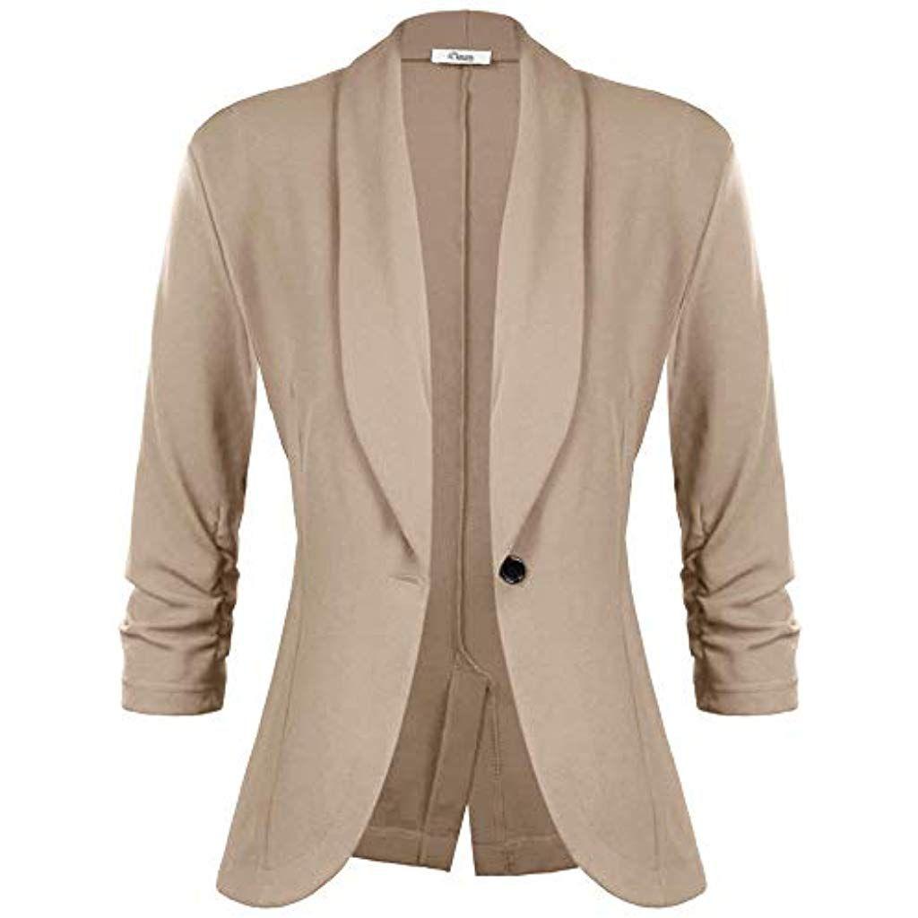 d5b67e933f3fe0 iClosam Damen Blazer Sommer 3/4 Ärmel Elegant Cardigan top. #damenuhren  #damensneaker