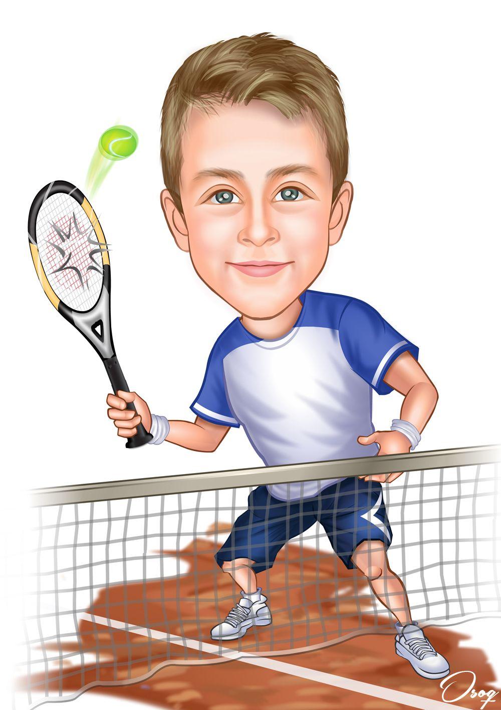 Tennis Player Cartoon Portraits Sport Portraits Sports Tennis Players Female