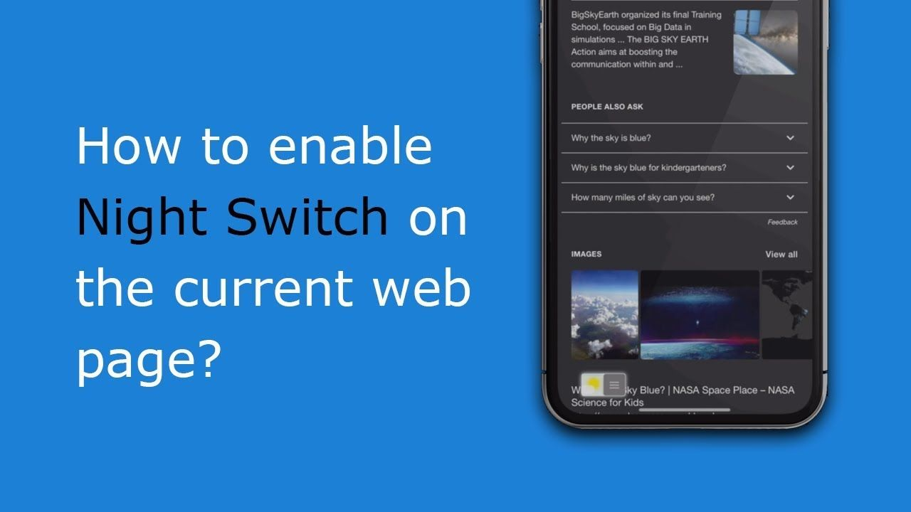 Get Night Switch on each page, so you can easily convert