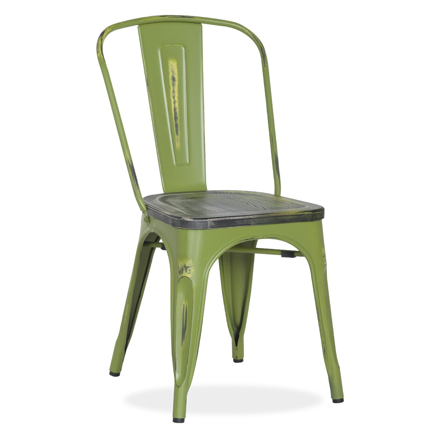 Yellow frame vintage sheet metal french cafe and bistro armless chairs - Silla Con Asiento De Madera Antique Terek Vintage Sillas Met Licas Tolix