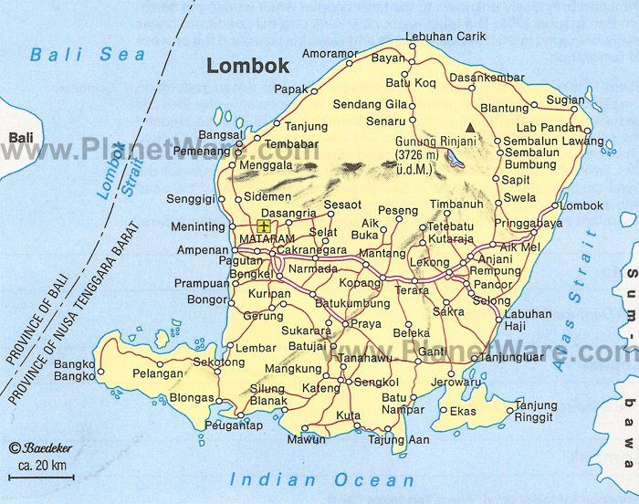 Lombok Map - Tourist Attractions (With images) | Tourist ...