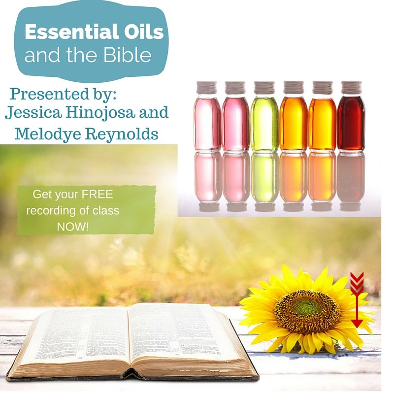 Essential oils are mentioned over 200 times in the bible. In this class we discuss specific scripture verses where they are mentioned, how they were used then and how you can use them now! Get the recording now!