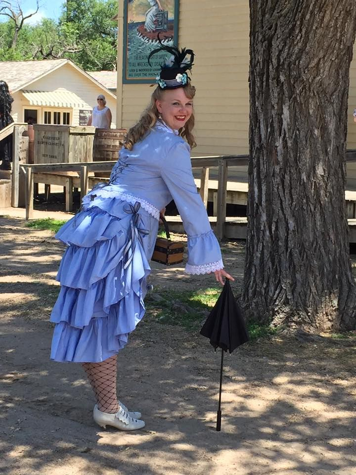 Blue Dress Outfit Cosplay Costume With Headwear Bloomers