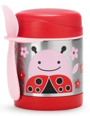 Thermos: thermosfles, Zoo Insulated Food Jars Deze kleurrijke inox container houdt het eten van uw kind koud of warm.  Berg het bestek op in de handige ingebouwde houder, zodat uw kleintje klaar is vo