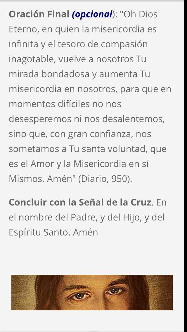 Oracion Final De La Coronilla De La Misericordia Importante Coronilla De La Misericordia Misericordias Oraciones