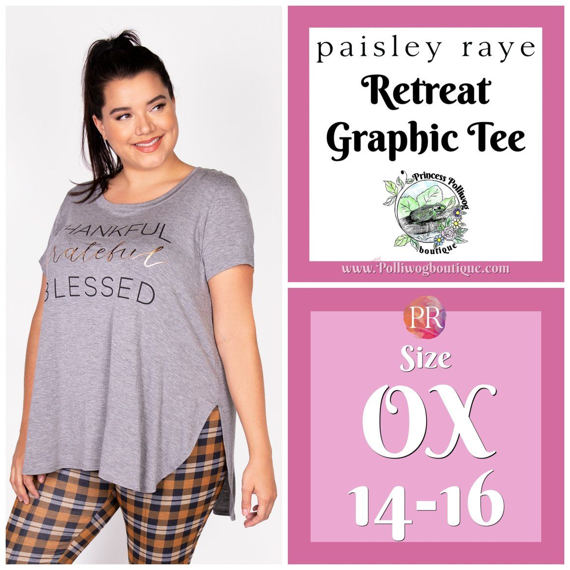 c54ade903 Paisley Raye Retreat Graphic Tee- 0X (Thankful,Grateful,Blessed) by  Princess Polliwog Boutique, shop now at www.polliwogboutique.com