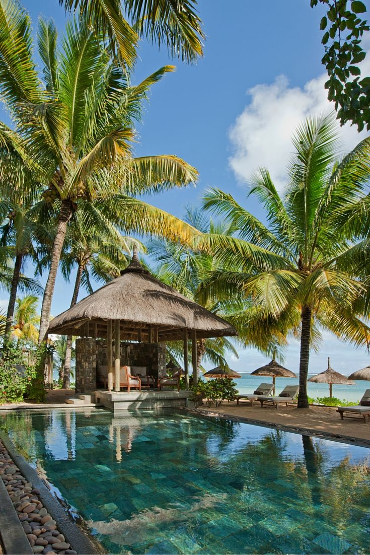 The beachfront villa of Heritage Awali Golf & Spa in Mauritius.  #Vacation #Mauritius #Villa #Hotel #Waderlust