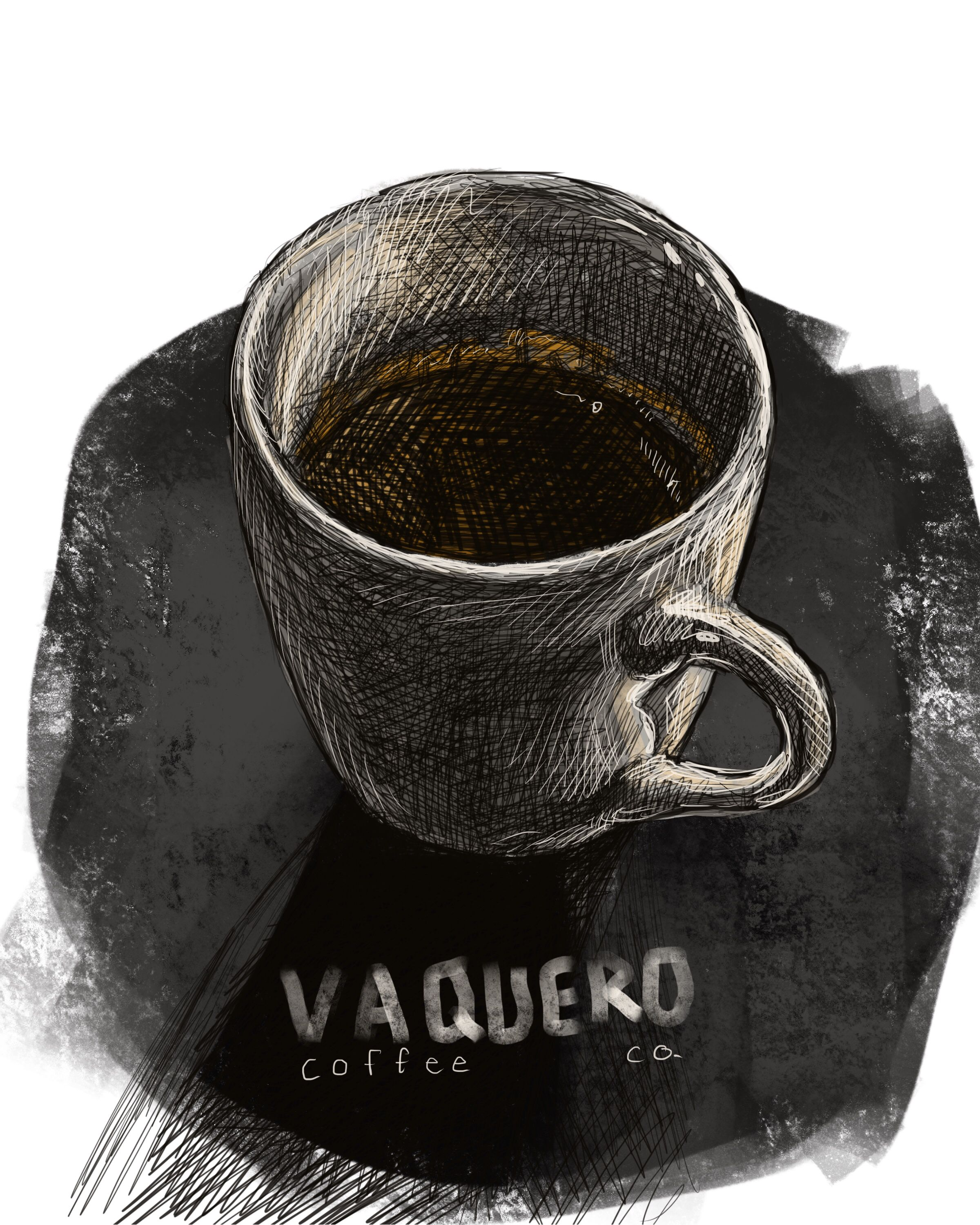 Espresso from Vaquero Coffee in downtown Fort Worth, TX.
