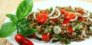 Salade de lentilles Weight watchers