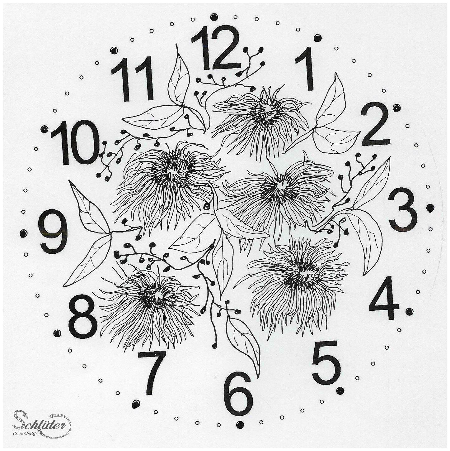 Schwere Ausmalbilder Blumen : F R Uhren Zifferblatt Mit Blumen Gezeichnet Doodle Zentangle
