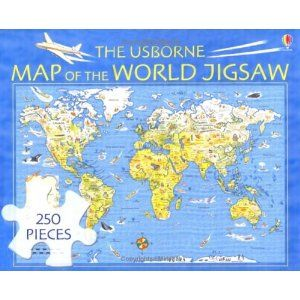The usborne map of the world jigsaw 250 pieces on amazon 58rmb buy a discounted puzzle of the usborne map of the world jigsaw online from australias gumiabroncs Choice Image