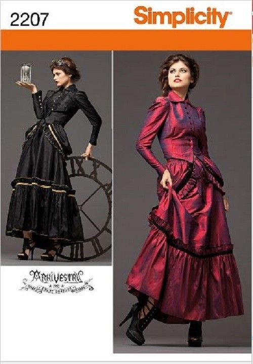 Steampunk Victorian Costume Simplicity Sewing Pattern Misses Size with Plus Size | eBay