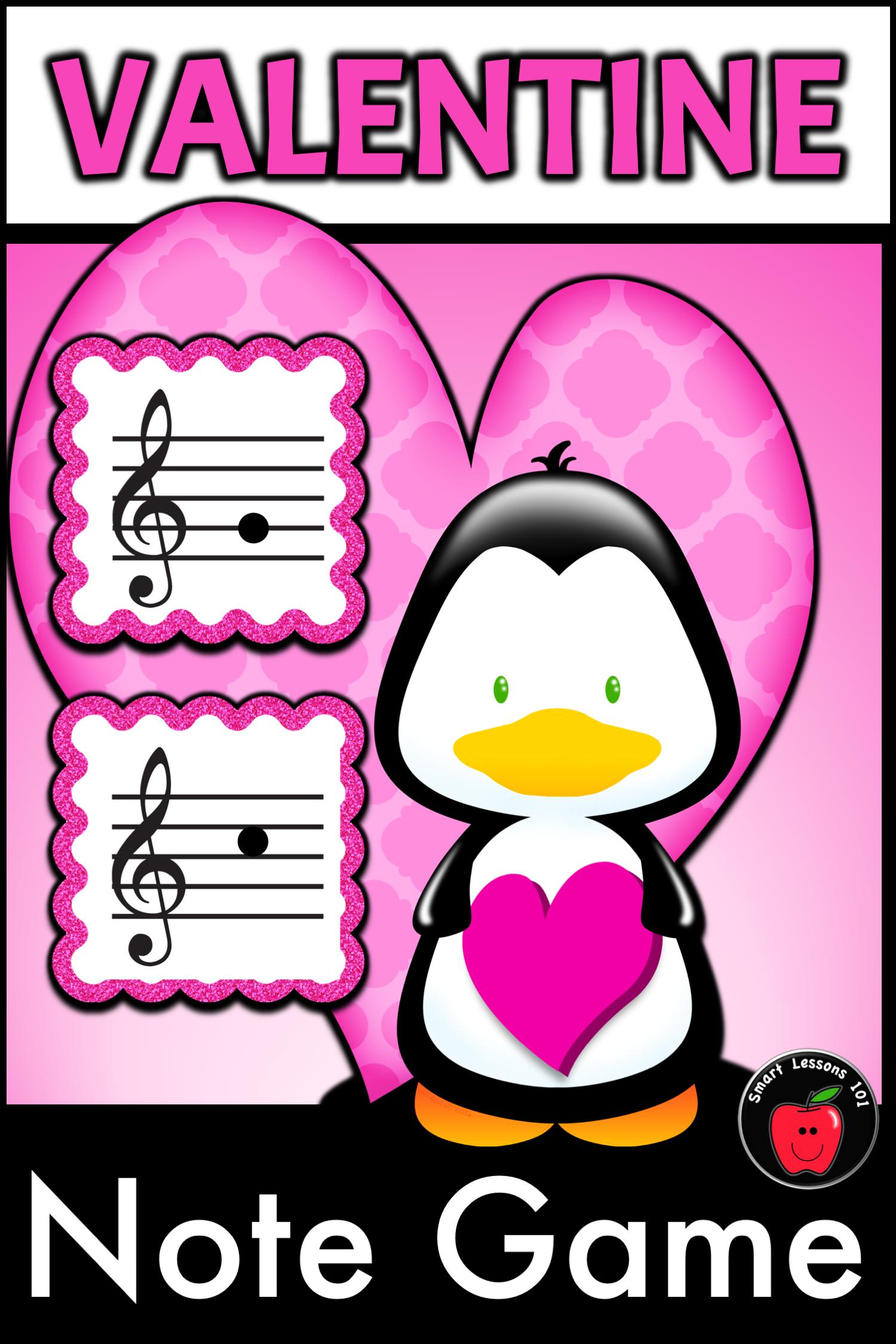 Valentines Day Activities Valentine Treble Note Name Game