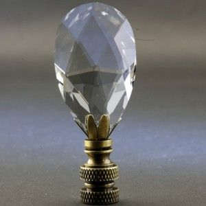 Crystal Tear Drop Lamp Finial With Images Crystal Lamp Lamp