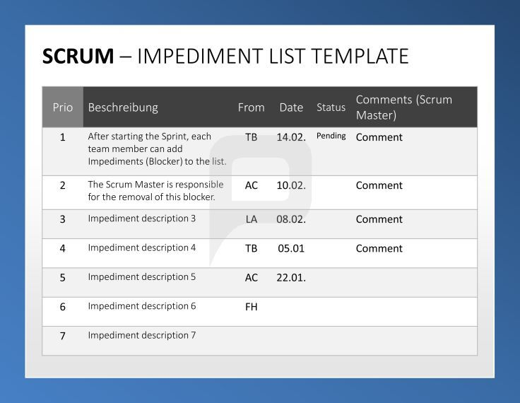 Professional Scrum PowerPoint-Templates The Scrum-Toolbox - product comparison template word