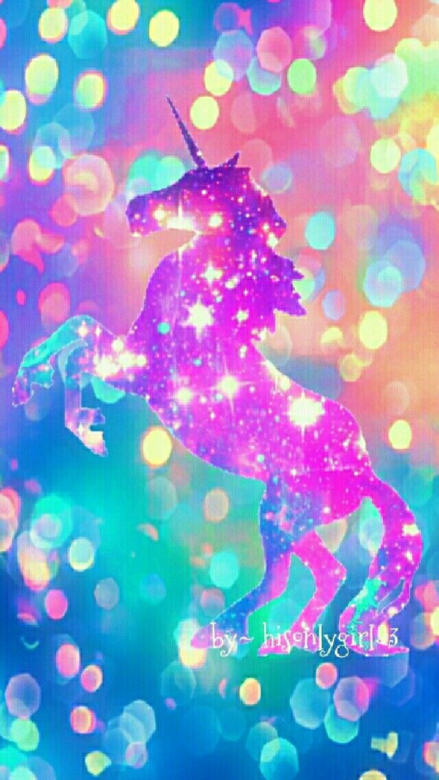 Cute unicorn galaxy wallpaper I created for the app ...
